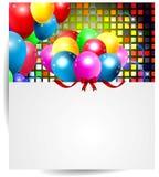 Fondo con los globos coloridos Imágenes de archivo libres de regalías