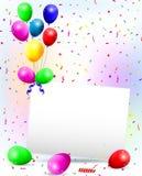 Fondo con los globos coloridos Fotos de archivo libres de regalías