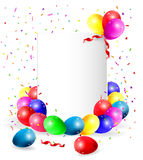 Fondo con los globos coloridos Foto de archivo