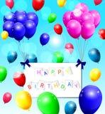 Fondo con los globos coloridos Imagenes de archivo