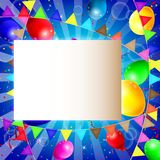 Fondo con los globos coloridos Imagen de archivo libre de regalías