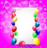 Fondo con los globos coloridos Fotos de archivo