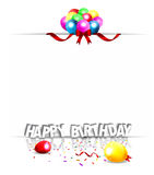 Fondo con los globos coloridos Foto de archivo libre de regalías