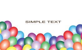 Fondo con los globos multicolores Fotografía de archivo libre de regalías