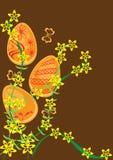 Fondo con los huevos de Pascua Ilustración del Vector