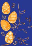 Fondo con los huevos de Pascua Libre Illustration