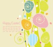 Fondo con los huevos de Pascua Fotografía de archivo