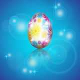 Fondo con los huevos de Pascua Foto de archivo