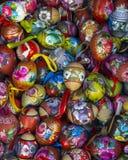 Fondo con los huevos de Pascua Imagen de archivo