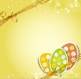 Fondo con los huevos de Pascua del día de fiesta Imagen de archivo