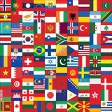 Fondo con los iconos de la bandera del mundo Foto de archivo libre de regalías