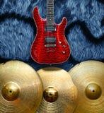 Fondo con los instrumentos musicales Imagen de archivo libre de regalías