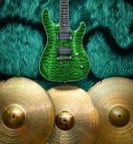 Fondo con los instrumentos musicales Fotografía de archivo libre de regalías