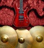 Fondo con los instrumentos musicales Foto de archivo libre de regalías