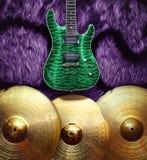 Fondo con los instrumentos musicales Fotografía de archivo