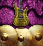 Fondo con los instrumentos musicales Foto de archivo