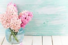 Fondo con los jacintos de las flores frescas Imagen de archivo libre de regalías