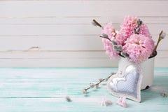 Fondo con los jacintos, flores del sauce Imagenes de archivo