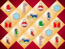 Fondo con los juguetes de la Navidad Imagen de archivo libre de regalías