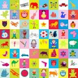 Fondo con los juguetes para los cabritos Fotografía de archivo libre de regalías