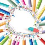 Fondo con los lápices coloreados ilustración del vector