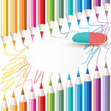 Fondo con los lápices coloreados Fotos de archivo libres de regalías
