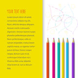 Fondo con los lápices del color Fotografía de archivo libre de regalías