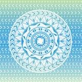 Fondo con los modelos étnicos en azul Imagen de archivo libre de regalías