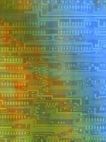 Fondo con los modelos del trazado de circuito Fotografía de archivo