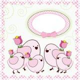 Fondo con los pájaros de la historieta. Fotografía de archivo libre de regalías