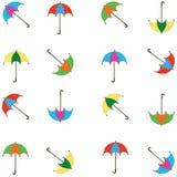 Fondo con los paraguas Foto de archivo libre de regalías