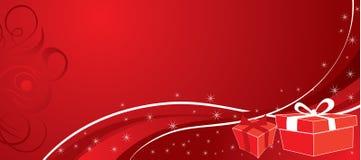 Fondo con los regalos, vector de la Navidad Fotos de archivo