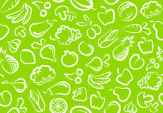 Fondo con los vehículos y la fruta ilustración del vector