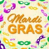 Fondo con Mardi Gras Mask Immagine Stock