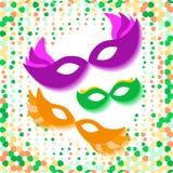 Fondo con Mardi Gras Mask Immagini Stock Libere da Diritti