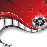 Fondo con motivos del cine Imagen de archivo libre de regalías