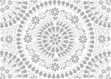 Fondo con motivos populares grises decorativos stock de ilustración