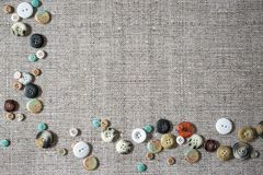 Fondo con muchos botones clasificados multi coloridos Imagen de archivo libre de regalías