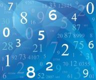 Fondo con números ilustración del vector