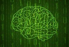 Fondo con números y el cerebro fotos de archivo libres de regalías
