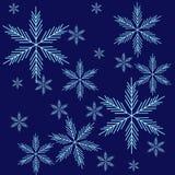 Fondo con neve Illustrazione Vettoriale