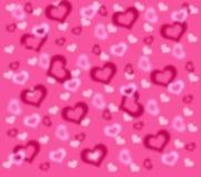 Fondo con rosa e bianco ai cuori Immagini Stock