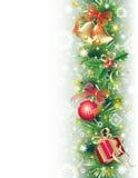 Fondo con símbolos de la Navidad Fotografía de archivo libre de regalías