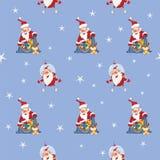 Fondo con Santa Claus sveglia Reticolo senza giunte Immagine Stock Libera da Diritti