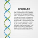 Fondo con spazio per testo con i nastri colorati sotto forma di spirale Immagine Stock