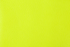 Fondo con struttura di cuoio giallo Fotografie Stock