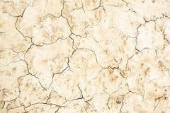 Fondo con suolo incrinato, bruciato, senza vita Fotografie Stock Libere da Diritti