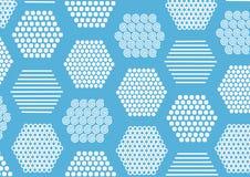 Fondo con texturas en hexagones Foto de archivo libre de regalías