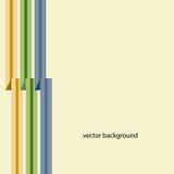 Fondo con tres cintas multicoloras Vector Ilustración del Vector