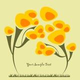 Fondo con un árbol Ilustración del Vector